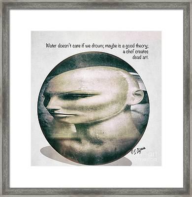 A Chef Creates Dead Art  Framed Print by Steven Digman
