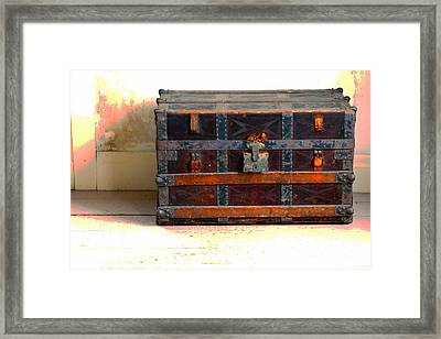 A Chest Of Past Adventures Framed Print