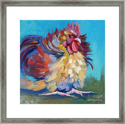 A Chicken Day Framed Print