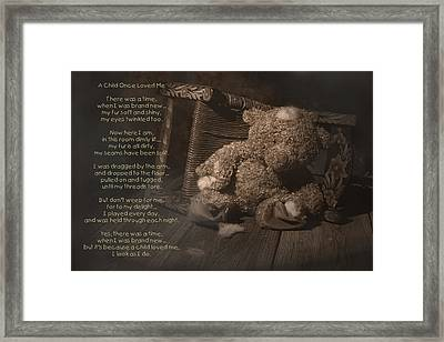 A Child Once Loved Me Poem Framed Print by Tom Mc Nemar