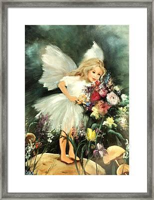 A Childs Dream Framed Print by Sally Seago