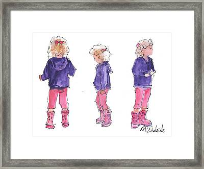 A Childs Pose Framed Print