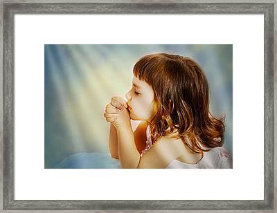 A Child's Prayer Framed Print by Ken Gimmi