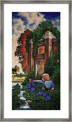 Framed Print featuring the painting A Child's Wonder by Michael Frank