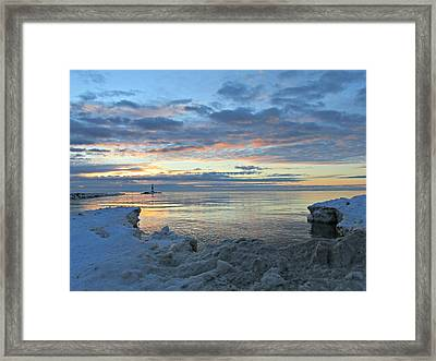 Framed Print featuring the photograph A Chilly View by Greta Larson Photography