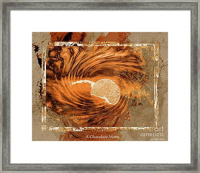 A Chocolate Moon Framed Print by Julie Dant