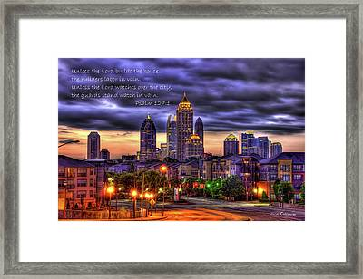 A Choice Atlanta Midtown Towers Over Atlantic Commons Art  Framed Print