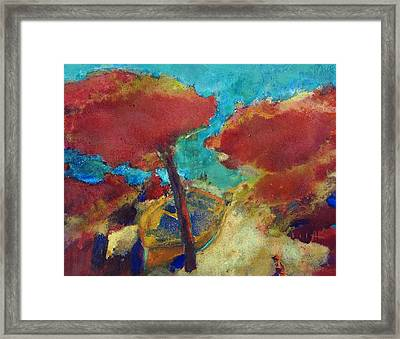 A Chord Of Boat Framed Print by Petro Bevza