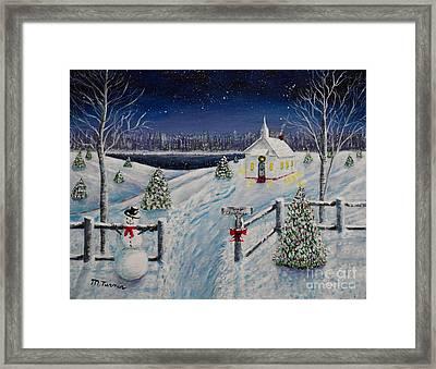 A Christmas Eve Framed Print