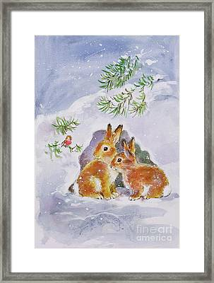 A Christmas Message Framed Print by Diane Matthes