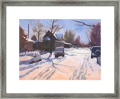 A Christmas Snow Framed Print
