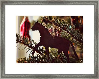 A Christmas Trot Framed Print by JAMART Photography