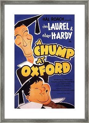 A Chump At Oxford Framed Print