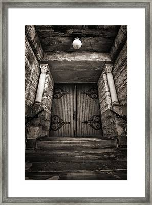 A Church Door Framed Print