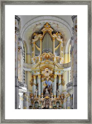 A Church Filled With Music - Church Of Our Lady Dresden Framed Print