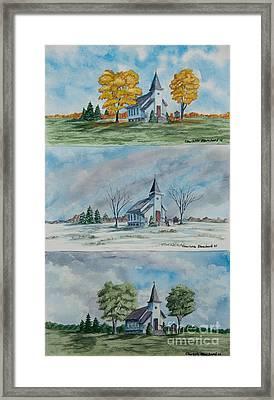 A Church For All Seasons Framed Print by Charlotte Blanchard