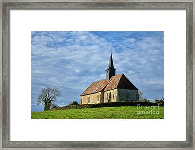 A Church In France Framed Print