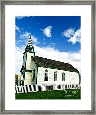 A Church In The Eighteen Hundreds Town Of Fort Steele Bc Canada Framed Print by Emilio Lovisa