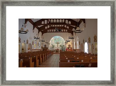 Framed Print featuring the photograph A Church Is Really Never Empty by Monte Stevens
