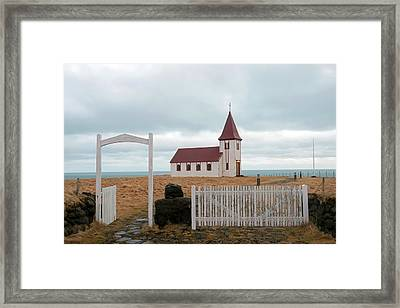Framed Print featuring the photograph A Church With No Fence by Dubi Roman