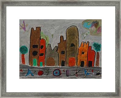 A Child's View Of Downtown Framed Print by Harris Gulko