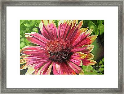 A Circular Splendor Of Summer Framed Print