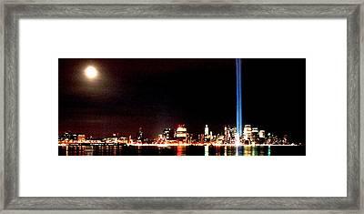 A City's Lights Framed Print by Richard Gerken