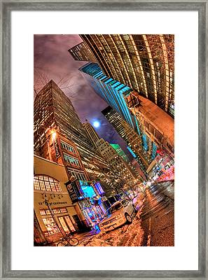 A City's Patience Framed Print by Joshua Ball