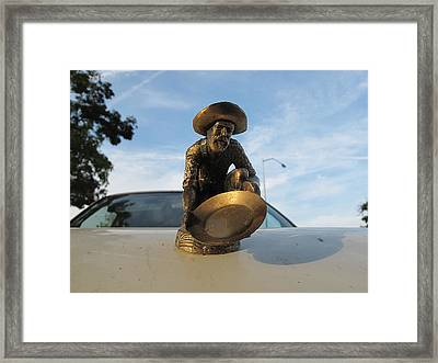 Framed Print featuring the photograph A Classic Hood Ornament Pickup Truck by John King