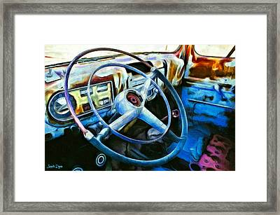 A Classical Vehicle - Da Framed Print by Leonardo Digenio