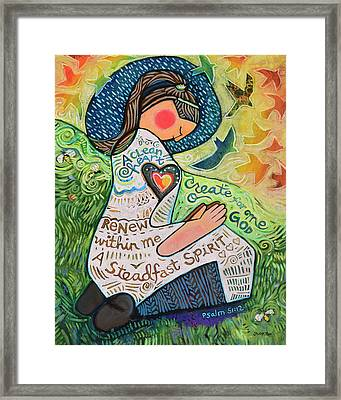A Clean Heart Framed Print