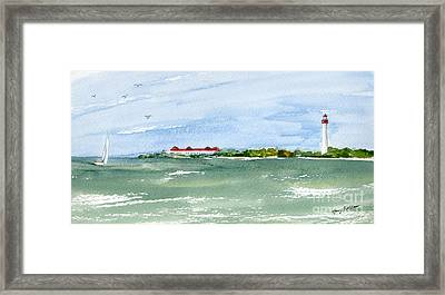A Clear Day At Cape May Point  Framed Print