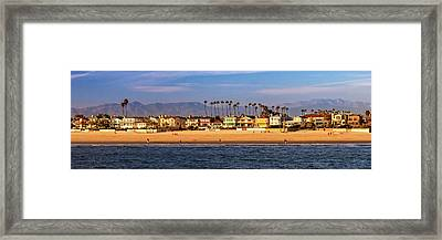 Framed Print featuring the photograph A Clear Day At The Beach by James Eddy