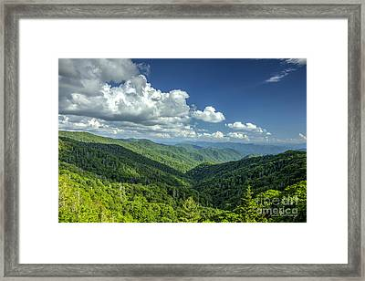 A Clear Day Great Smoky Mountains Blue Ridge Parkway Framed Print by Reid Callaway