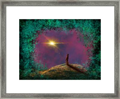 A Clearing Framed Print