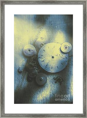 A Clockwork Blue Framed Print by Jorgo Photography - Wall Art Gallery