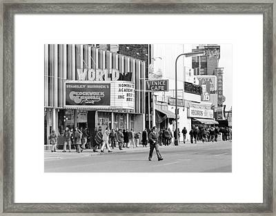 A Clockwork Orange At The World Theater Framed Print