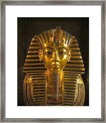 A Close View Of The Gold Funerary Mask Framed Print by Kenneth Garrett
