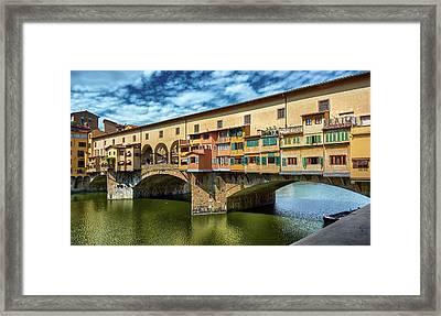 A Closer Look To Ponte Vecchio Framed Print