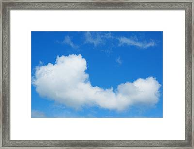 Framed Print featuring the photograph A Cloud For You by Gwyn Newcombe