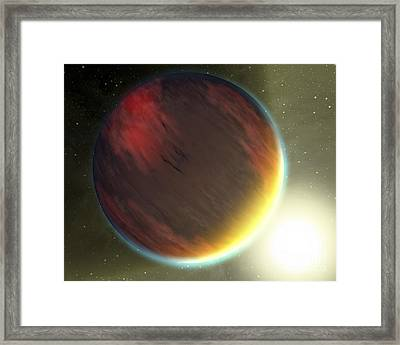 A Cloudy Jupiter-like Planet That Framed Print