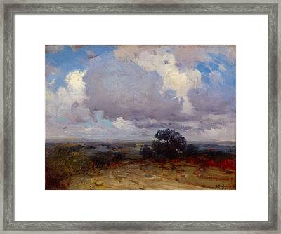 A Cloudy Morning Framed Print