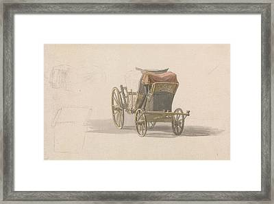 A Coach With Royal Coat Of Arms Framed Print by Paul Sandby