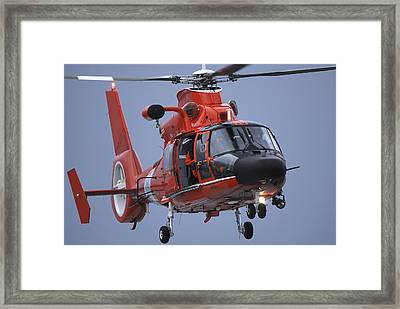 A Coast Guard Mh-65 Dolphin Helicopter Framed Print