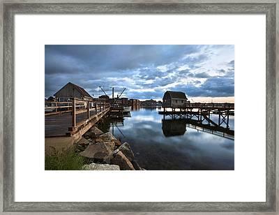 A Coastal Scene Framed Print