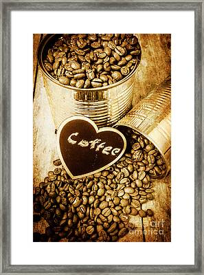 A Coffeehouse Romance Framed Print