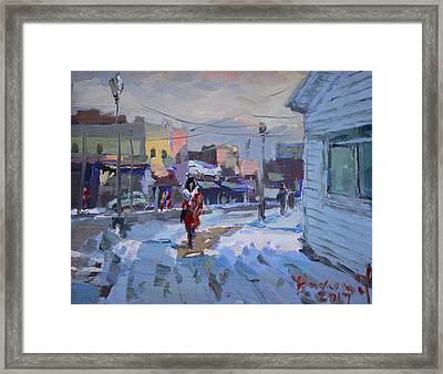 A Cold Afternoon In Tonawanda Framed Print