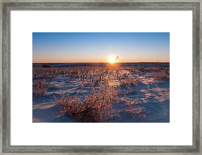 Framed Print featuring the photograph A Cold December Morning by Monte Stevens