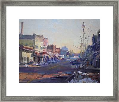 A Cold Sunny Day At Webster St Framed Print