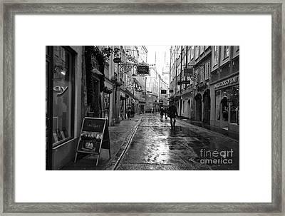 A Cold Walk Through Salzburg Framed Print